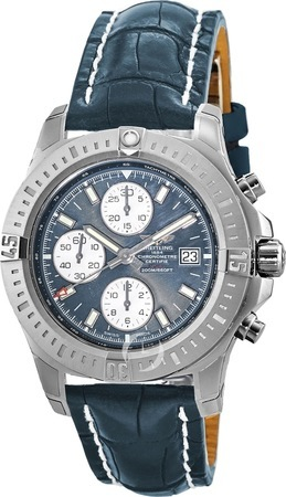 Breitling Colt Chronograph Automatic Blue Dial Leather Men's Watch A1338811/C914-731P