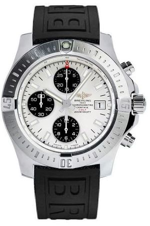 Breitling Colt Chronograph Automatic Silver Dial Rubber Men's Watch A1338811/G804-152S