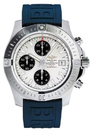 Breitling Colt Chronograph Automatic Blue Rubber Strap Men's Watch A1338811/G804-158S