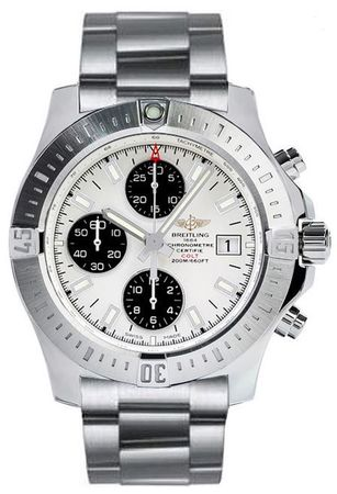Breitling Colt Chronograph Automatic Silver Dial Steel Men's Watch A1338811/G804-173A