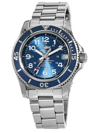 Breitling Superocean II 36 Mariner Blue Dial Stainless Steel Unisex Watch A17312D1/C938-179A