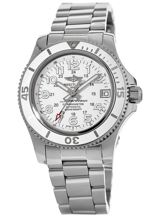 Breitling Superocean II 36 Hurricane White Dial Stainless Steel Women's Watch A17312D2/A775-179A