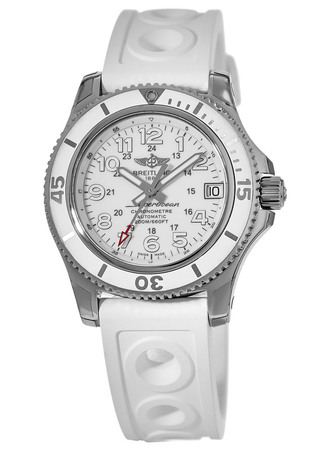 Breitling Superocean II 36 Hurricane White Dial White Rubber StrapII Women's Watch A17312D2/A775-230S