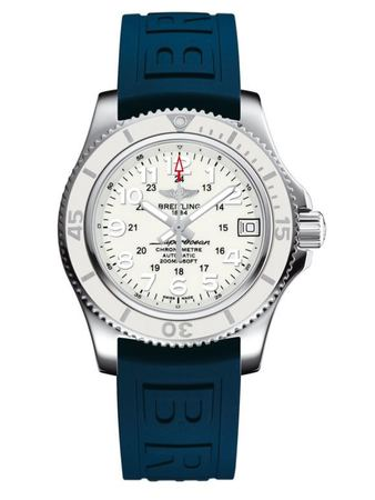 Breitling Superocean II 36 Hurricane White Dial Blue Diver Pro III Unisex Watch A17312D2/A775-238S