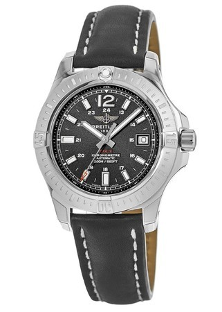 Breitling Colt 41 Automatic Black Dial Black Leather Men's Watch A1731311/BE90-429X