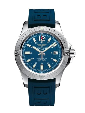 Breitling Colt 41 Automatic Blue Dial Blue Rubber Men's Watch A1731311/C934-148S
