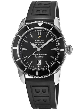Breitling Superocean Heritage 46 Black Dial Black Rubber Men's Watch A1732024/B868-154S
