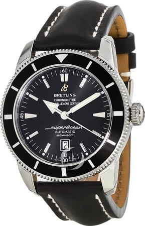 Breitling Superocean Heritage 46 Black Dial Leather Strap Men's Watch A1732024/B868-441X