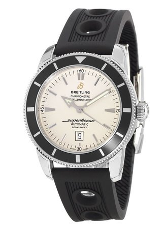 Breitling Superocean Heritage 46 Silver with Black Bezel Men's Watch A1732024/G642-201S