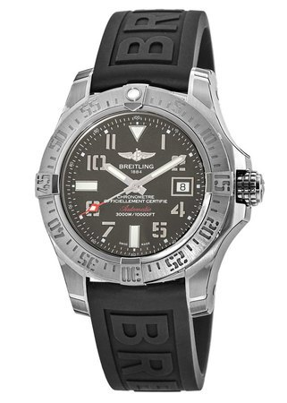 Breitling Avenger Avenger II Seawolf Grey Dial Black Rubber Men's Watch A1733110/F563-153S