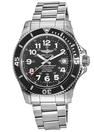 Breitling Superocean II 42 Black Dial Steel Men's Watch A17365C9/BD67-161A