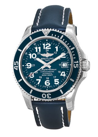 Breitling Superocean II 42 Blue Dial Calf Leather Strap Men's Watch A17365D1/C915-113X