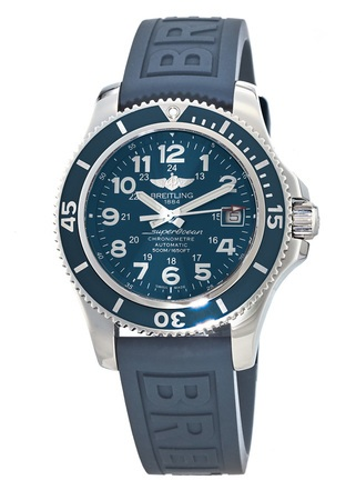 Breitling Superocean II 42 Blue Dial Rubber Strap Men's Watch A17365D1/C915-148S