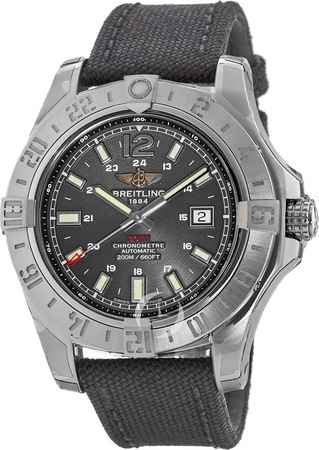 Breitling Colt 44 Automatic Black Canvas Strap Men's Watch A1738811/BD44-103W