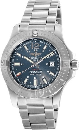 Breitling Colt 44 Automatic Blue Dial Steel Men's Watch A1738811/C906-173A