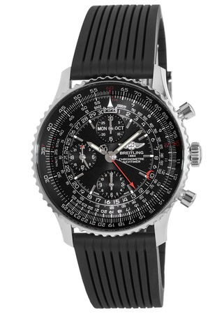 Breitling Navitimer Navitimer 1884 Limited Edition Black Dial Rubber Strap Men's Watch A2135024/BE62-252S