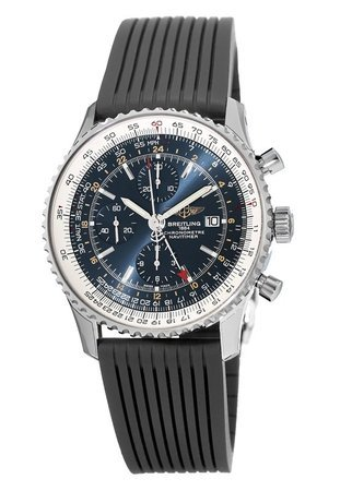 Breitling Navitimer 01 (46mm) Blue Dial Black Rubber Men's Watch A2432212/C651-252S