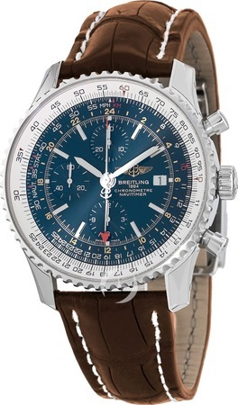 Breitling Navitimer World Blue GMT Chronograph Men's Watch A2432212/C651-755P