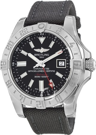 Breitling Avenger II GMT Black Dial Men's Watch A3239011/BC35-103W