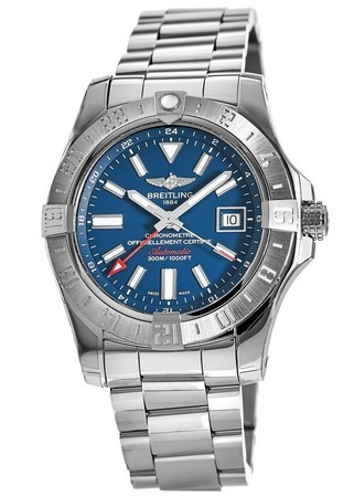 Breitling Avenger II GMT Blue Dial Stainless Steel Men's Watch A3239011/C872-170A