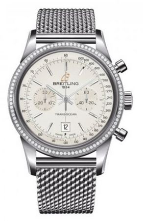 Breitling Transocean Chronograph 38  Men's Watch A4131053/G757-171A