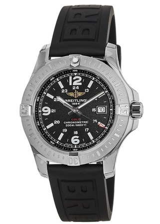 Breitling Colt 44 Quartz Black Rubber Strap Men's Watch A7438811/BD45-152S