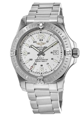 Breitling Colt 44 Quartz Silver Dial Steel Men's Watch A7438811/G792-173A