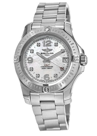 Breitling Colt 36 Mother of Pearl Dial Women's Watch A7438911/A771-178A