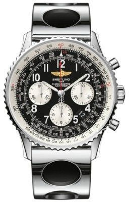 Breitling Navitimer 01 (43mm) Black Arabic Chronograph Dial Steel Men's Watch AB012012/BB02-222A