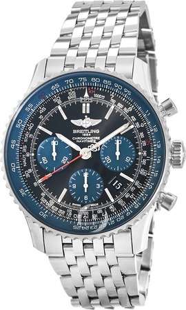 Breitling Navitimer 01 (43mm) Blue Black Limited Edition Men's Watch AB012116/BE09-447A