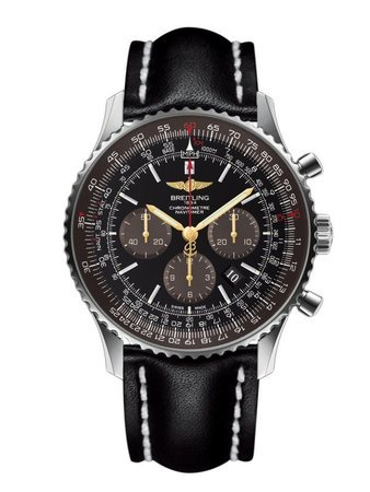 Breitling Navitimer 01 (46mm) Limited Edition Panamerican Black Dial Black Leather Men's Watch AB0127E3/BE81-442X