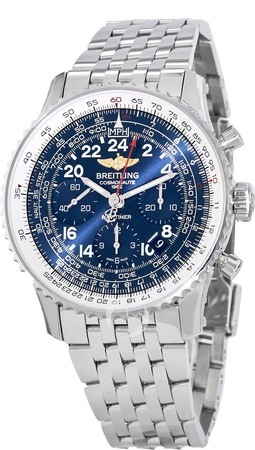 Breitling Navitimer Cosmonaute Manual Winding Aurura Blue Dial Men's Watch AB0210B4/C917-447A