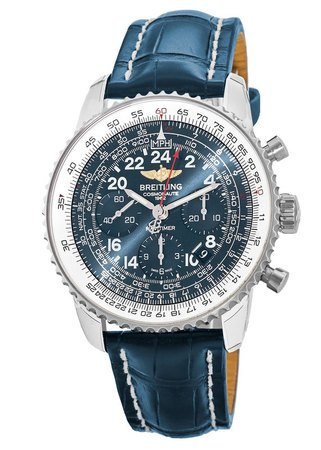 Breitling Navitimer Cosmonaute Manual Winding Aurura Blue Dial Men's Watch AB0210B4/C917-731P