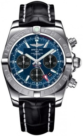 Breitling Chronomat 44 GMT  Men's Watch AB042011/C852-CROCD