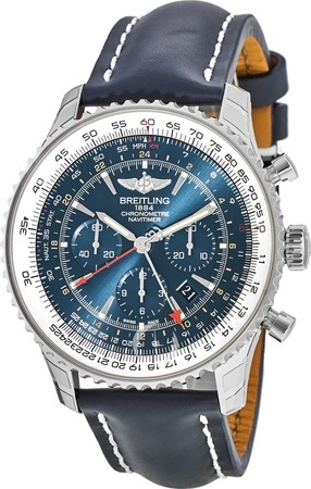 Breitling Navitimer GMT 48mm Aurora Blue Limited Edition Men's Watch AB04411A/C937-101X