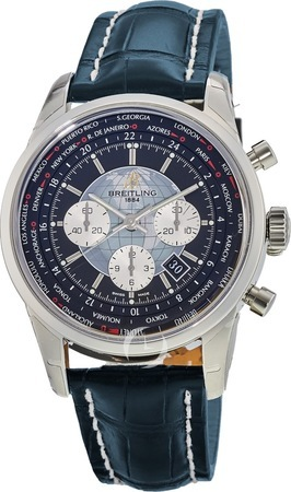 Breitling Transocean Chronograph Unitime  Men's Watch AB0510U4/BB62-747P