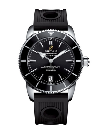 Breitling Superocean Heritage II 42 Black Dial Black Rubber Men's Watch AB201012/BF73-200S