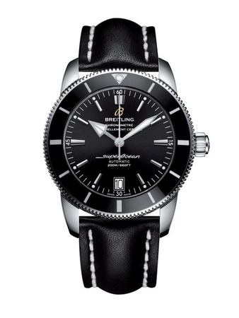 Breitling Superocean Heritage II 42 Black Dial Black Leather Men's Watch AB201012/BF73-436X