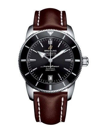 Breitling Superocean Heritage II 42 Volcano Black Dial Brown Leather Men's Watch AB201012/BF73-437X