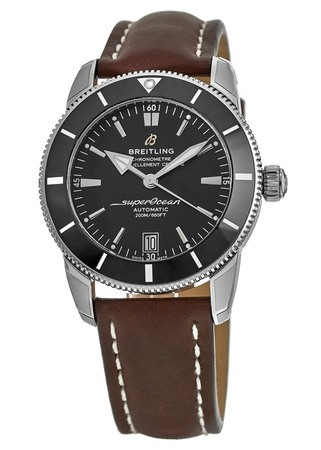 Breitling Superocean Heritage II Automatic 42 Black Dial Brown Leather Men's Watch AB201012/BF73-437X
