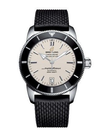 Breitling Superocean Heritage II Automatic 42 Silver Dial Black Rubber Men's Watch AB201012/G827-278S