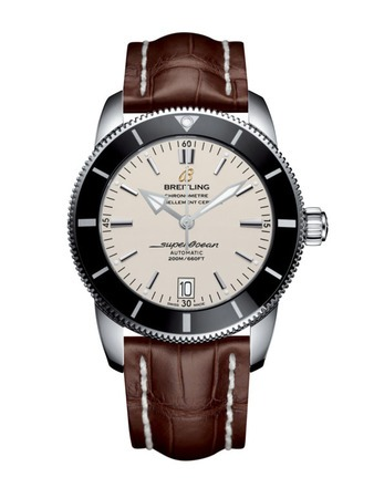 Breitling Superocean Heritage II 42 Silver Dial Brown Leather Men's Watch AB201012/G827-739P