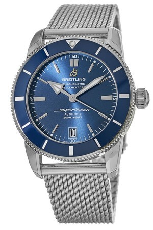 Breitling Superocean Heritage II Automatic 42 Gun Blue Dial Stainless Steel AB2010161C1A1 Men's Watch AB201016/C960-154A