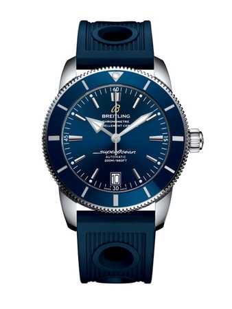 Breitling Superocean Heritage II Automatic 42 Blue Dial Blue Rubber Men's Watch AB201016/C960-211S