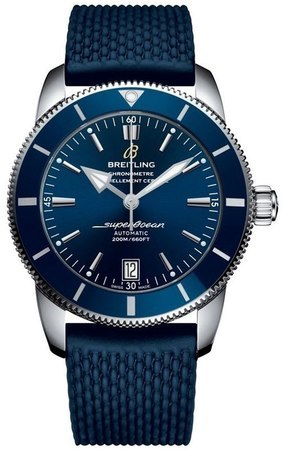 Breitling Superocean Heritage II Automatic 42 Gun Blue Dial Blue Rubber Men's Watch AB201016/C960-280S