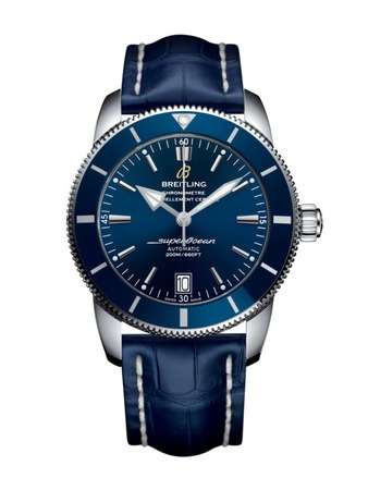 Breitling Superocean Heritage II Automatic 42 Blue Dial Blue Leather Men's Watch AB201016/C960-731P