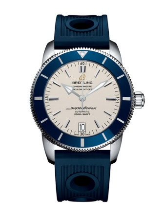 Breitling Superocean Heritage II 42 Silver Dial Blue Rubber Men's Watch AB201016/G827-211S