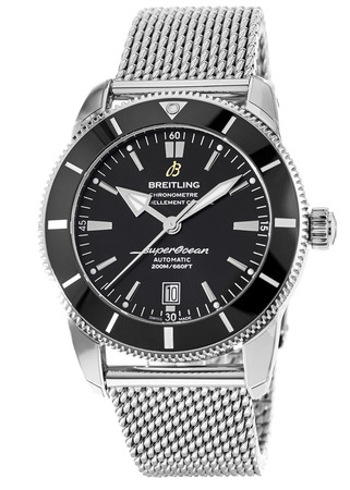 Breitling Superocean Heritage II Automatic 46 AB2020121B1A1 Black Dial Stainless Steel Men's Watch AB202012/BF74-152A