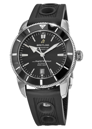 Breitling Superocean Heritage II 46 Black Dial Black Rubber Men's Watch AB202012/BF74-201S