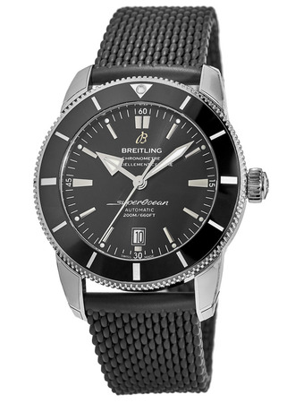 Breitling Superocean Heritage II 46 Black Dial Black Rubber Men's Watch AB202012/BF74-256S